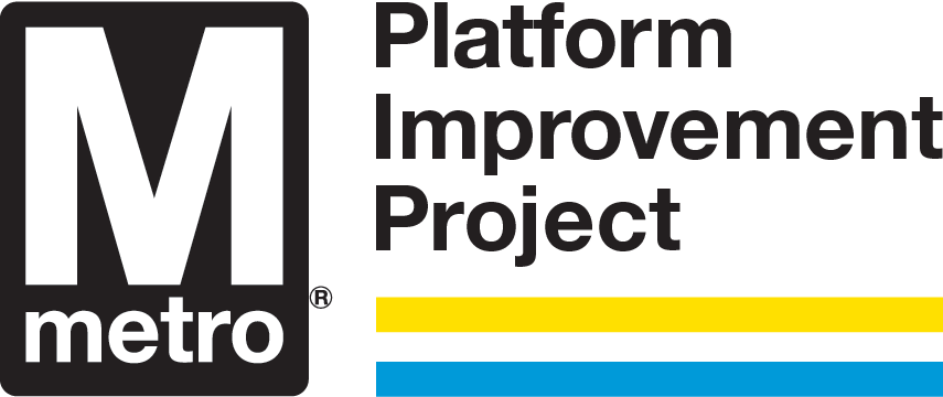 Metro platform improvement project logo